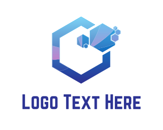 Business Software - Purple Hexagons logo design