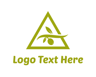 Seed - Olive Triangle logo design