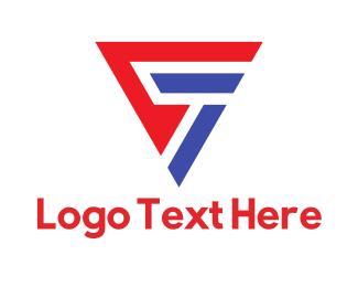 Number 7 - Triangle Number 7 logo design