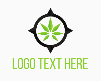 Medical Marijuana - Cannabis Map Place logo design