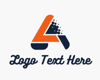 Automotive - Blue Orange Letter A logo design