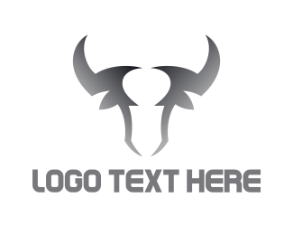 Mythical Creature - Gradient Bull Outline logo design