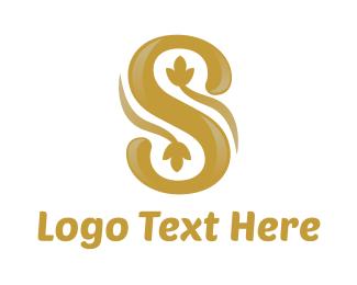 Ornament - Shiny Flower S logo design