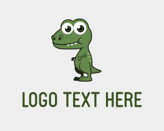 Prehistoric - Cute Dino logo design