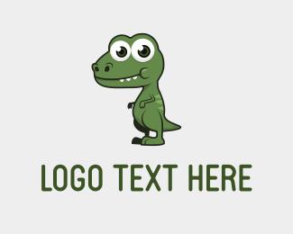 Rex - Cute Dino logo design