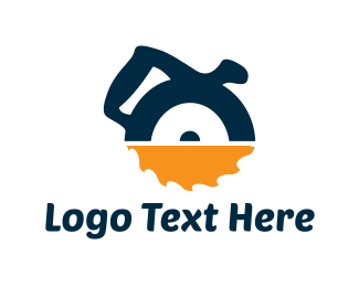 Carpentry - Circular Saw logo design