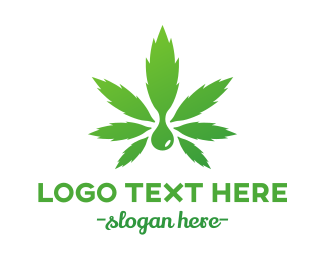 Medical Marijuana - Weed Droplet logo design