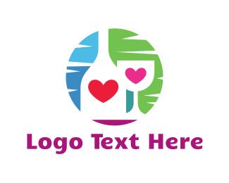 Bar - Love Bar logo design
