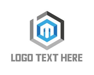 Hexagonal - Hexagonal Letter M logo design