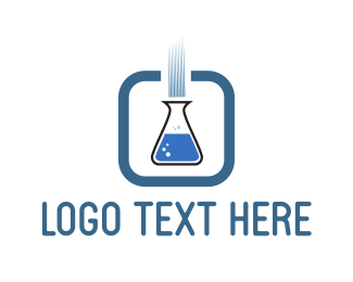 Beaker - Blue Test Tube logo design