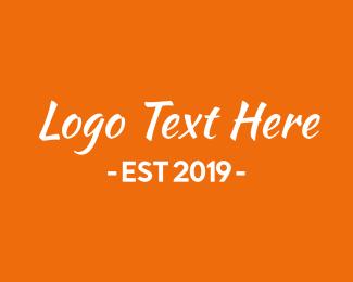 Font - Orange & White Text logo design