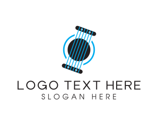 Guitarist - Blue Strings logo design
