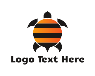 Reptile - Bee Turtle logo design