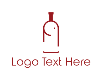 Vineyard - Elephant Bottle logo design