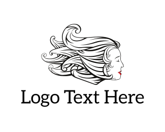 Hairstyle - Woman Hair logo design