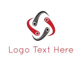 Connection - Network Spiral logo design