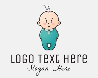 Baby Shower - Innocent Baby logo design