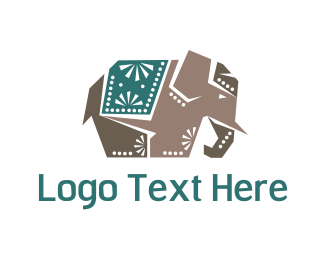 India - Indian Elephant logo design