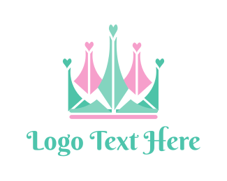 Heart - Heart Crown logo design