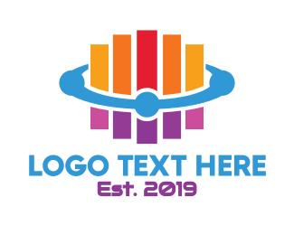 Graph - Modern Colorful Stripes logo design