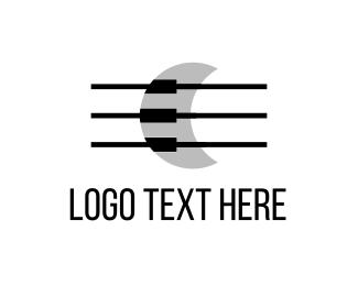 String - Musical Moon logo design