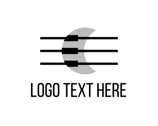 Hole - Musical Moon logo design