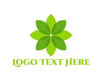 Eternity - Green Flower logo design