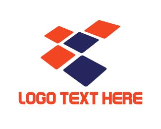 Data - Tech Squares logo design