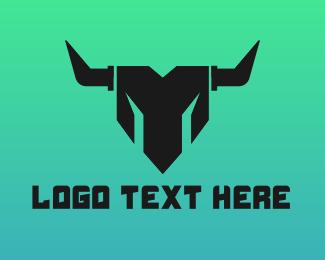 Clan - Geometric Minotaur logo design