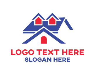 Homestead - Blue Big House logo design
