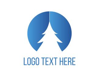 Pine - White Pine Tree logo design
