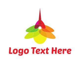 Mosquito - Mosquito Flower logo design