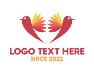 Support - Two Birds logo design