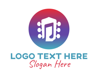 Singer - Guitar Music  logo design