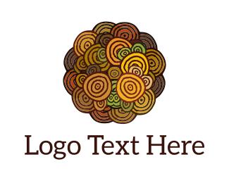 Indigenous - Art Flower logo design