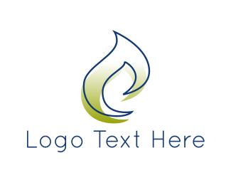 Oil - Green Flame logo design