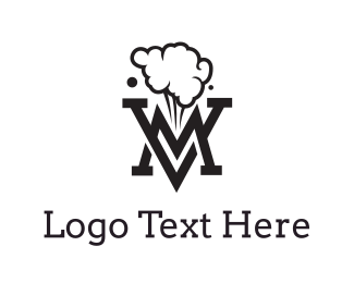 Trend - Smoking Black VM logo design