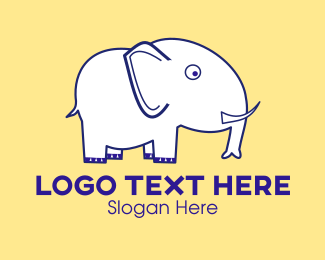 Safari - White Elephant Cartoon  logo design
