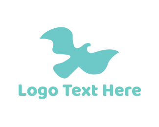 Shadow - Soft Flying Bird logo design