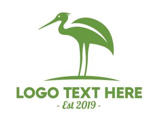 Stork - Green Stork logo design
