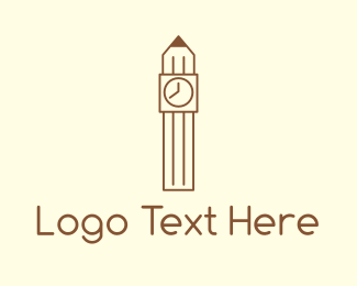 School - Pencil Tower logo design