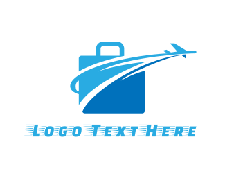 Aeroplane - Fast Luggage logo design