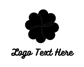 Four Leaf Clover - Black Clover logo design