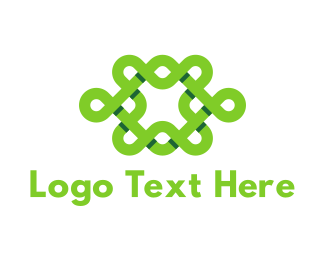 Knot - Green Interlace logo design