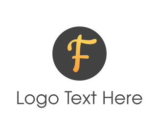 Curvy - Orange Curvy F logo design