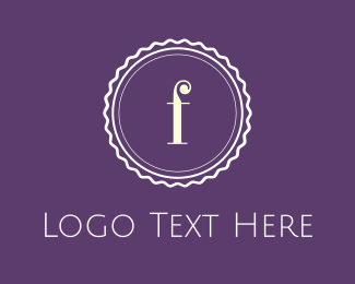 Stamp - Purple F Emblem logo design