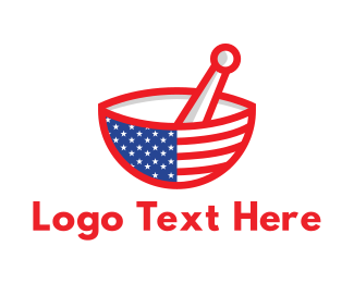 America - American Mortar logo design