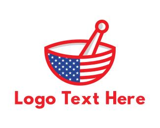 American - American Mortar logo design