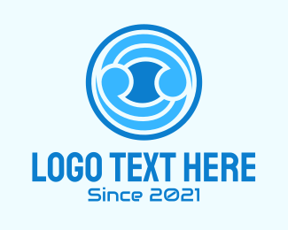 Blue Ball  logo design