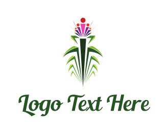 Beauty Salon - Tropical Flower logo design